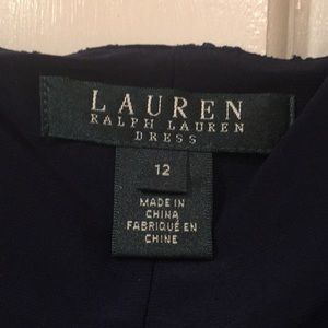 Ralph Lauren Dresses - Ralph Lauren navy blue lace/sequin dress